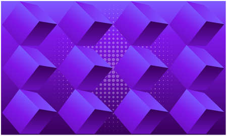 digital textile design of boxes on abstract background Illustration