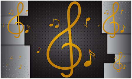music symbol on digital dark backgrounds