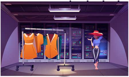 mock up illustration of designer showroom on abstract backgrounds