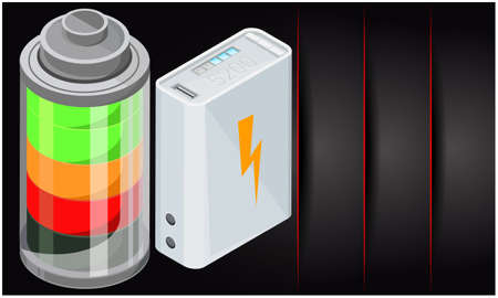 design of different types of battery on abstract backgrounds