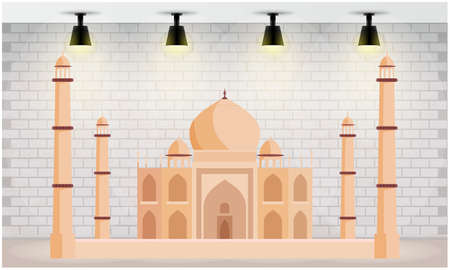 indian monument on an abstract walls background