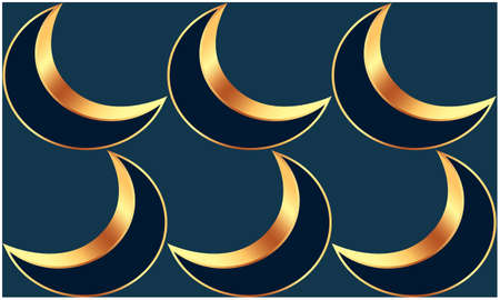 abstract styles of moon on dark background