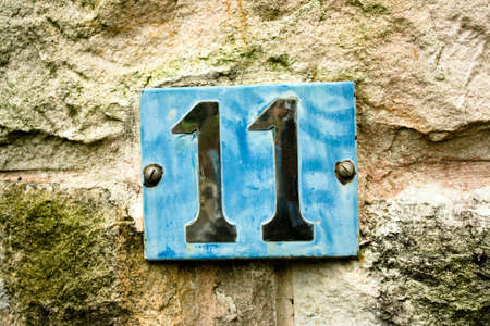 eleven: Number 11 Stock Photo