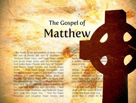 according: The Gospel According to Matthew Grungy Background