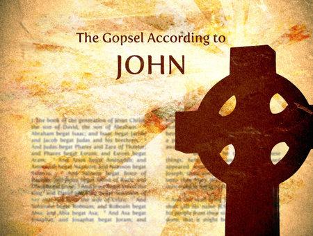 The Gospel According to John Grungy Background Stock Photo - 5431649