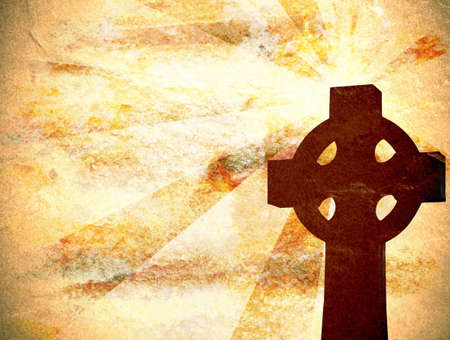 Background with cross and grungy texture Stock Photo - 5533767