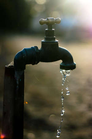 A Backlit Dripping Tap photo