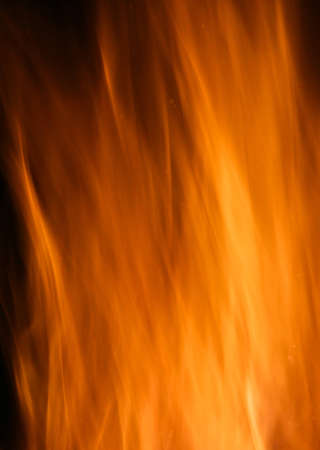 A Long Exposure of a Fire photo