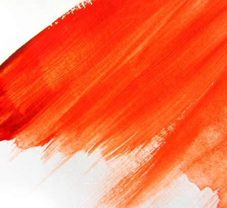 brush strokes: Hand Painted Red Water Color Texture of Brush Strokes