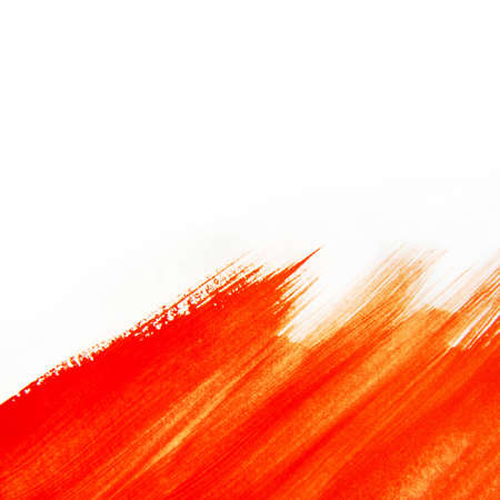 Hand Painted Red Water Color Texture of Brush Strokes photo