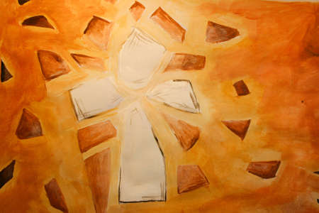 Hand Painted Christian Cross photo