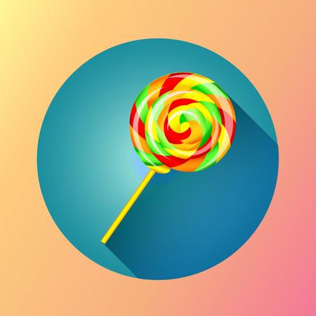 Sweet lollipop icon Illustration
