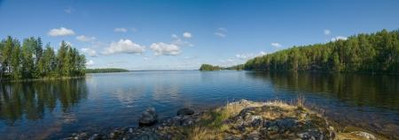 Lake Onega panorama in Karelia, Russia    photo