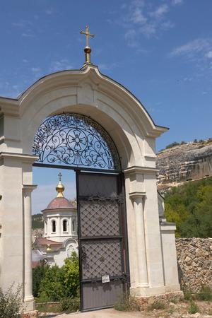 assumption: Assumption Monastery of the Caves (15th century) is located near Bakhchysarai,  Crimea