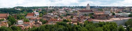 panoramic roof: Panorama of old Vilnius from the Castle Hill, Lithuania