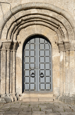 Main door of the Cathedral of St. George in Yuryev-Polsky (town), Vladimir region, Russia