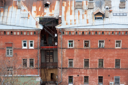 Old brick house in Nizhny Novgorod, Russia Editorial