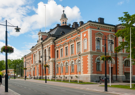 Kuopio, Northern Savonia, Finland, June 16, 2015: Town Hall in summer Stock fotó - 96498362