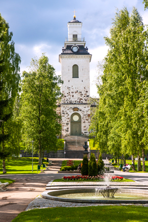 Kuopio Cathedral in summer, Kuopio, Northern Savonia, Finland