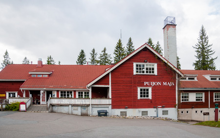 Kuopio, Northern Savonia, Finland, June 16, 2015: Hotel Puijon Maja Town Hall on a hill in summer