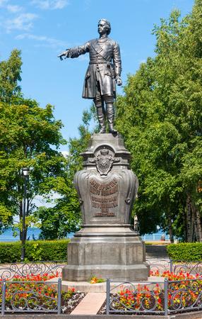 Peter the Great, founder of Petrozavodsk (1873) Petrozavodsk, Republic of Karelia, Russia