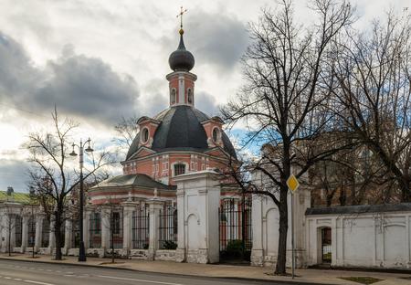 Church of St. Catherine the Great Martyr on Vspolye on Bolshaya Ordynka Street in Moscow, Russia