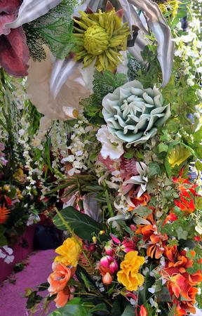 Composition of artificial flowers Standard-Bild - 124953332