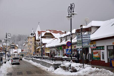 Swieradow Zdroj resort, Poland, December 13, 2018: Jizera Mountains