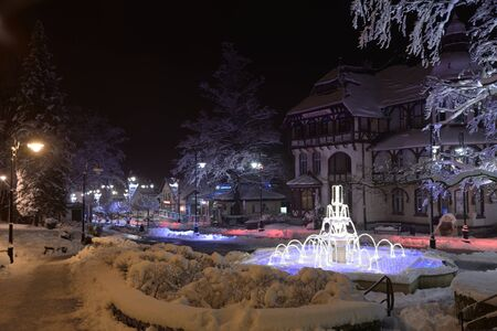 Swieradow resort, Poland, December 13, 2018: Jizera Mountains Standard-Bild - 128667692