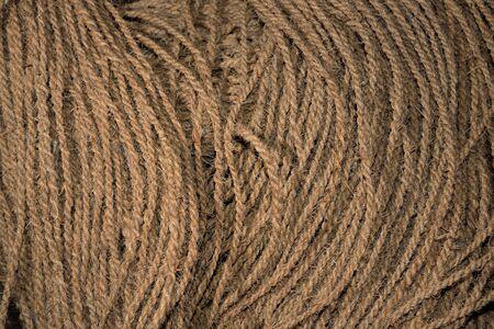 Rope (twine) from hemp fiber