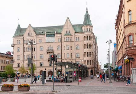 Tampere, Finland, August 11, 2014: Main streets (Hameenkatu) of city Tampere