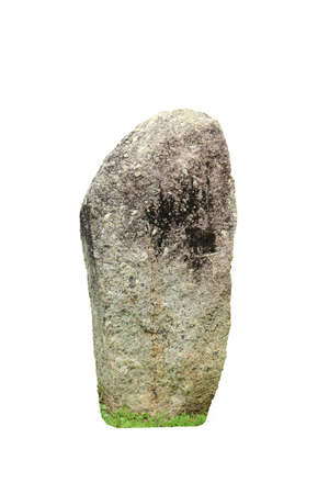Old big stone isolated on white background with clipping path.