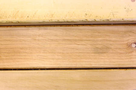 Close up of horizontal wooden background with seam pattern.