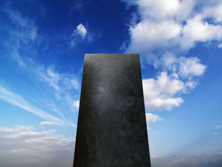 monolith in the blue sky