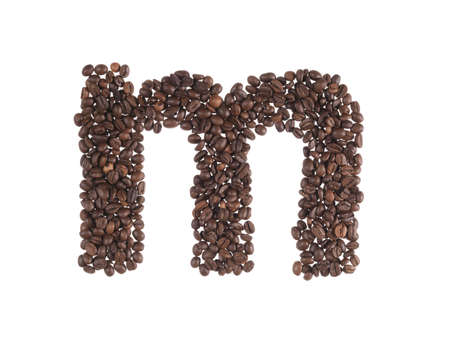letters of alphabet made of a coffee beans Stock Photo - 8396799