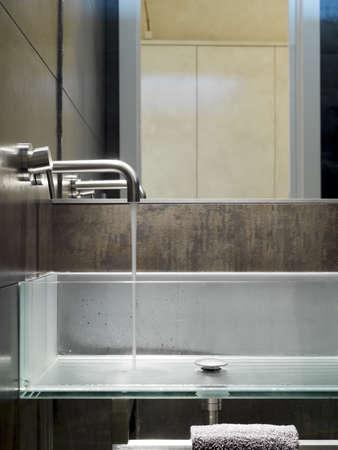 washbasin: washbasin in the modern bathroom