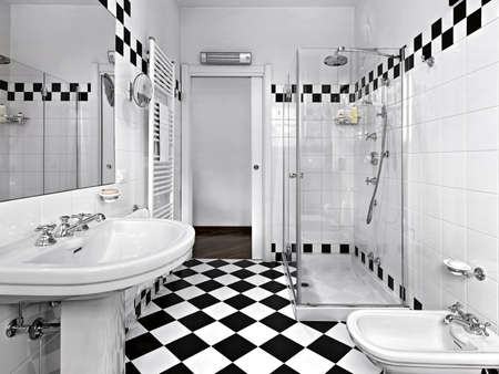 modern bathroom black and white Stock Photo - 15303470