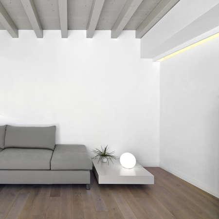 parquet floors: soggiorno moderno con pavimento in legno Archivio Fotografico