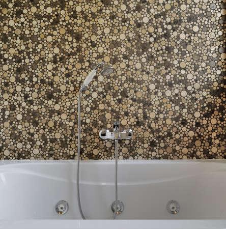 arredamento classico: dettaglio della vasca da bagno in un bagno moderno Archivio Fotografico