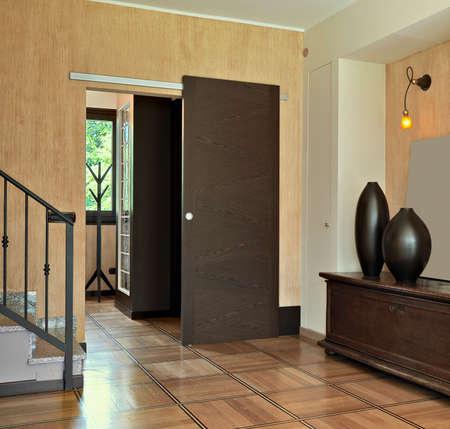 puertas viejas: moderna entrada