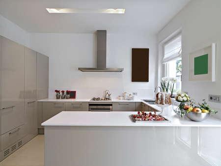 Moderne Küche Standard-Bild - 24293789