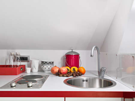 detail of fruit on the worktop in a modern kitchen Stock Photo - 24293791