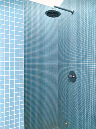 shower cubicle: shower masonry in a modern bathroom