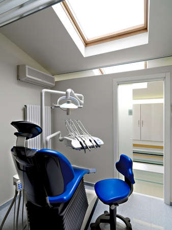 conditioned: modern dental clinic in hte attic room Stock Photo