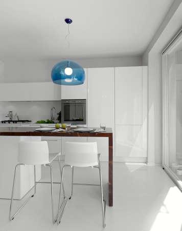 Innenansicht eines modernen Küche Lizenzfreie Bilder