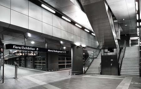 interior: Interior View of the underground in Rho Fiera Milano Italy Stock Photo