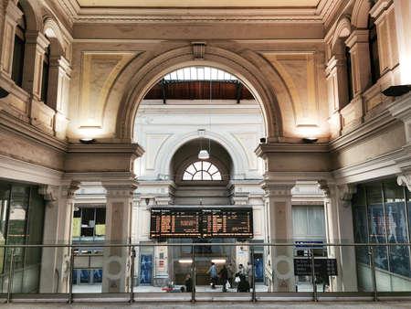 interior: Genoa, italy, interior View of the railway station