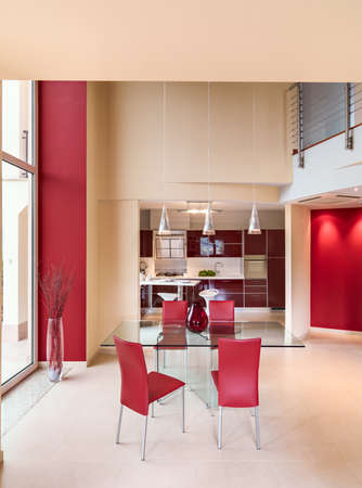 Glass Dining Table With Red Leather Chairs Frisco Burgundy Red