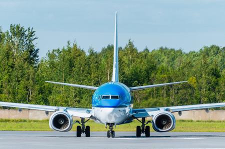boeing 747: Boeing 737 KLM airlines, airport Pulkovo, Russia Saint-Petersburg August 2015.