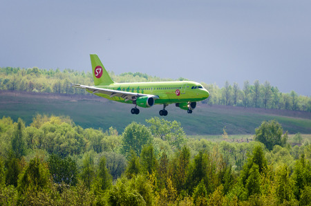 Airbus a319 S7 airlines, airport Pulkovo, Russia Saint-Petersburg May 2016. Editorial
